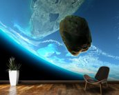Meteor tumbling towards earth,texture from www.Nasa.gov mural wallpaper kitchen preview
