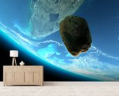 Meteor tumbling towards earth,texture from www.Nasa.gov mural wallpaper living room preview