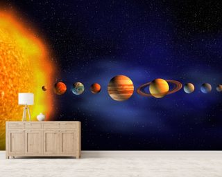 Solar System Wallpaper Mural Wall Murals Wallpaper