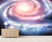 Distant Spiral Galaxy mural wallpaper living room preview