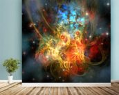 Princess Nebula wall mural in-room view