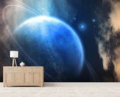 Ringed Planet wallpaper mural living room preview