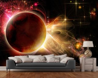 Double Sunset wall mural