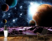 Abstract Planets with Water mural wallpaper kitchen preview