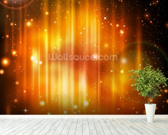 Polar light wallpaper wall mural wallsauce canada for Mural lighting