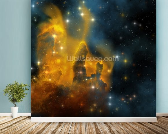 Eagle Nebula wall mural room setting
