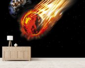 Asteroid wall mural living room preview