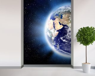 Earth Corona Wall Mural Wallpaper