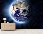 Earth Corona wallpaper mural living room preview