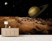 Outerspace Landscape mural wallpaper living room preview