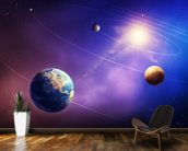 Inner Solar System Planets wallpaper mural kitchen preview