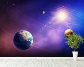 Inner Solar System Planets wallpaper mural in-room view