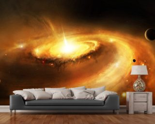 Spiral Galaxy Core mural wallpaper