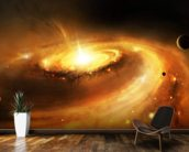 Spiral Galaxy Core mural wallpaper kitchen preview