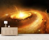 Spiral Galaxy Core mural wallpaper living room preview