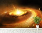 Spiral Galaxy Core mural wallpaper in-room view
