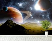 Deep Space Concept wall mural in-room view