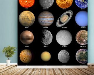 The Solar System Wall Mural Wallpaper Part 36