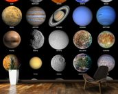 The Solar System wall mural kitchen preview