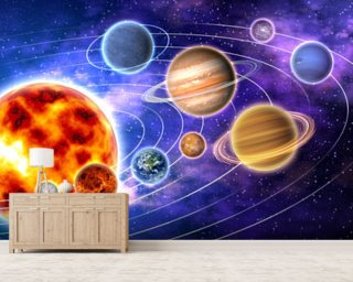 Lovely Solar System Mural Wallpaper Part 16