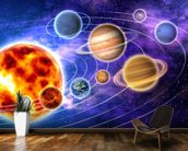 Solar System wallpaper mural kitchen preview