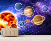 Solar System wallpaper mural living room preview