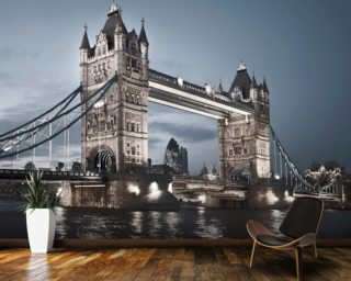 Tower Bridge at Night Mural Wallpaper Wall Murals Wallpaper