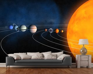 Complete Solar System mural wallpaper