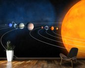 Complete Solar System mural wallpaper kitchen preview