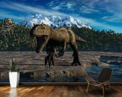 Allosaurus wallpaper mural kitchen preview