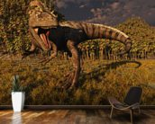 Allosaurus Hunts mural wallpaper kitchen preview