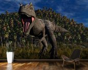 Allosaurus Aggression wall mural kitchen preview