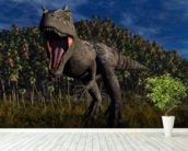 Allosaurus Aggression wall mural in-room view