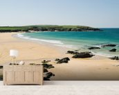 Harlyn Bay - Cornwall mural wallpaper living room preview