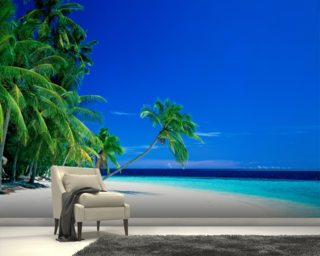 White Beach Wallpaper Mural Wallpaper Wall Murals