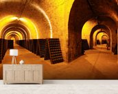 Wine Cellar Tunnels wallpaper mural living room preview
