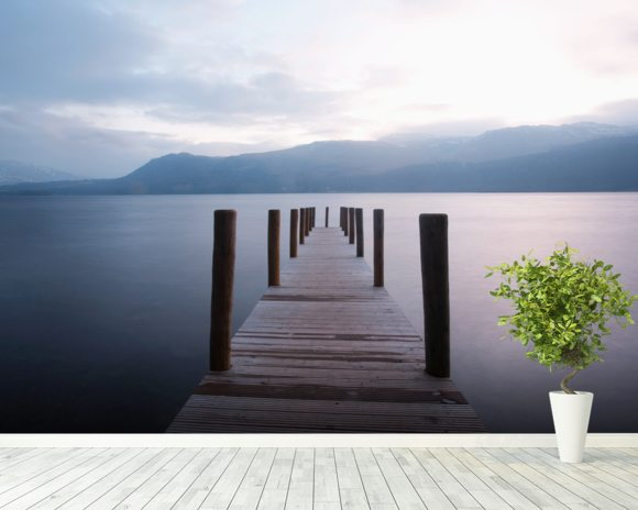 Derwent Water - Lake District mural wallpaper room setting