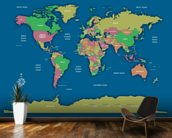 Labelled World Map II wall mural kitchen preview