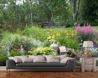 Country Garden Mural Wallpaper