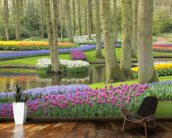 Keukenhof Flowers Gardens wallpaper mural kitchen preview