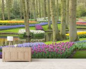 Keukenhof Flowers Gardens wallpaper mural living room preview