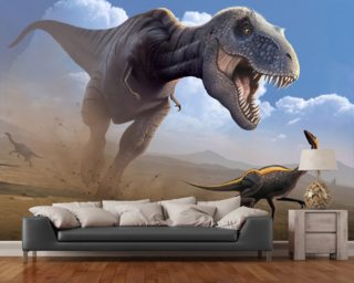 Tyrannosaurus Rex Lunch Wall Mural Wallpaper Wall Murals Wallpaper