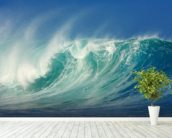 Big Waves, North Shore, Hawaii mural wallpaper in-room view