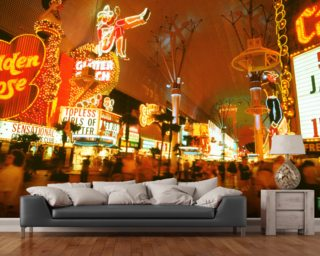 Las Vegas - Fremont Street at Night Wall Mural Wall Murals Wallpaper