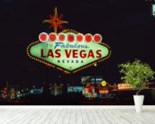 Welcome to Las Vegas mural wallpaper in-room view