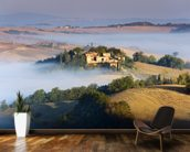 Misty Tuscany Morning mural wallpaper kitchen preview