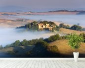 Misty Tuscany Morning mural wallpaper in-room view