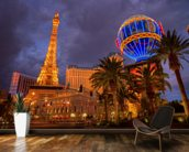 Las Vegas Strip by Night mural wallpaper kitchen preview
