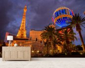 Las Vegas Strip by Night mural wallpaper living room preview