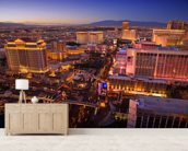 Vegas at Night wall mural living room preview